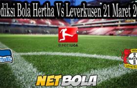 Prediksi Bola Hertha Vs Leverkusen 21 Maret 2021